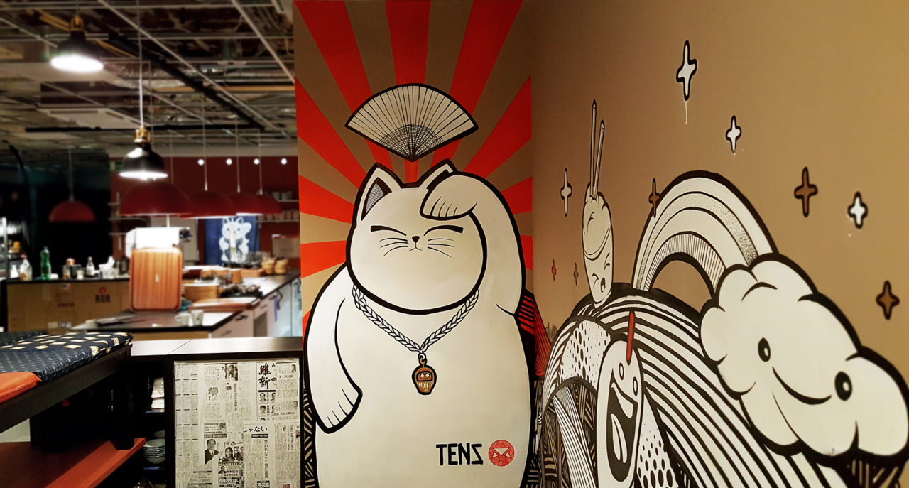 Wandbild «Restaurant Bar Mister Mori»