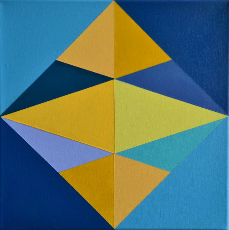 Blue Star Cubes #1