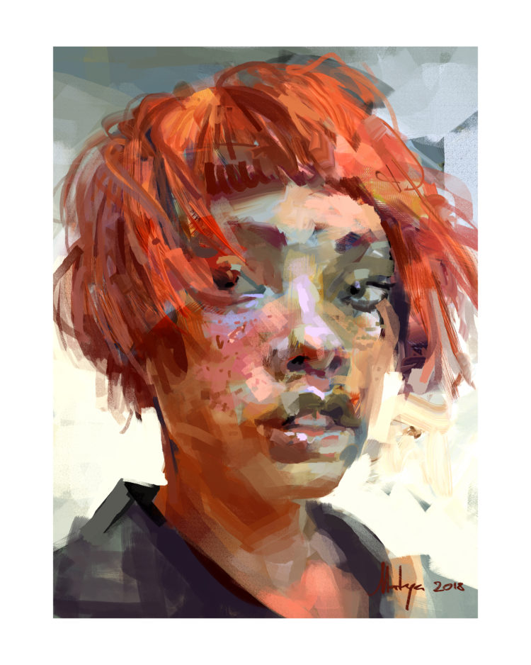 Red Portrait Study